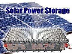 Solar Power storage